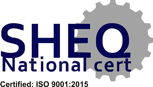 We are ISO 9001-2008 certified